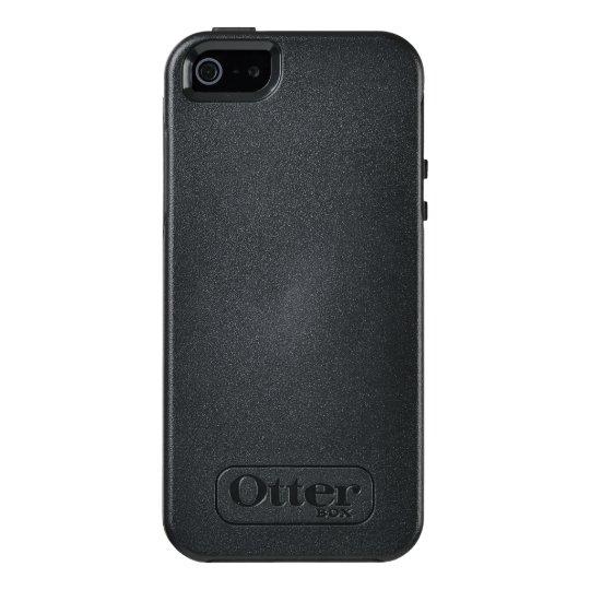 Custom OtterBox iPhone SE/5/5s Série Symmetry Case, Preto