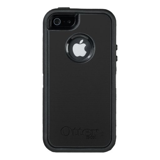 Custom OtterBox iPhone SE/5/5s Série Defender Case, Preto