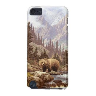 Caso do ipod touch 5G da paisagem do urso de urso Capa Para iPod Touch 5G