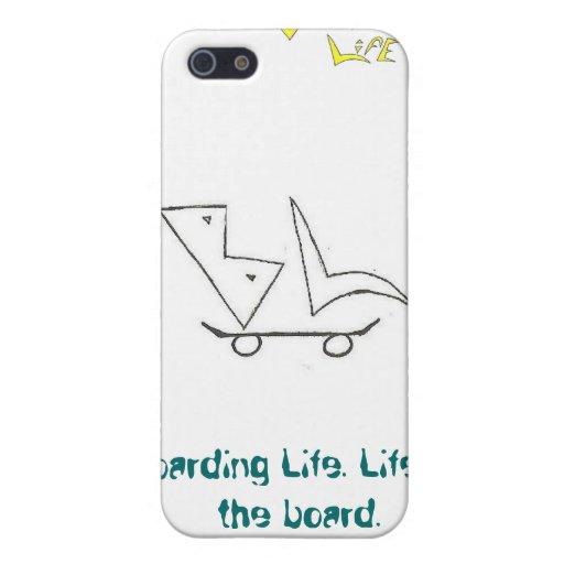 Caso do telemóvel da vida do embarque iPhone 5 capas