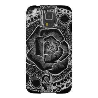 Caso do telemóvel do rosa de compasso capas par galaxy s5