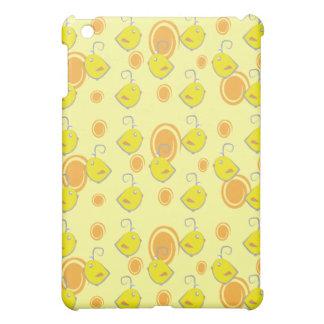 caso do teste padrão do amarelo do pássaro de bebê capa iPad mini