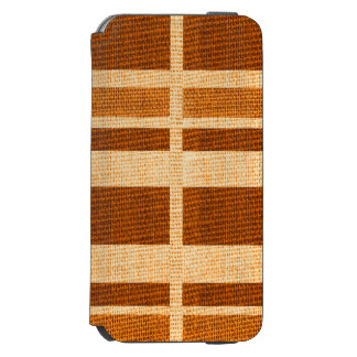 Caso do textil de Brown Capa Carteira Incipio Watson™ Para iPhone 6