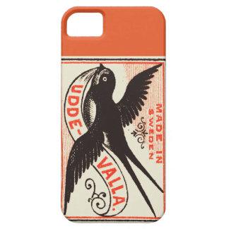 Caso do vintage iphone5 da andorinha capa para iPhone 5