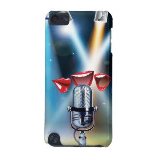 Caso engraçado do ipod touch 5 do karaoke capa para iPod touch 5G
