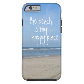 Caso feliz do iPhone 6 do lugar da praia Capa Para iPhone 6 Tough