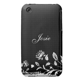 Caso floral do blackberry curve do design do