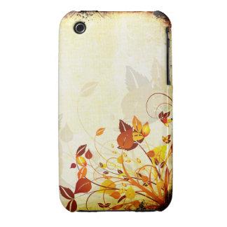 Caso floral do blackberry curve do design do capas para iPhone 3 Case-Mate
