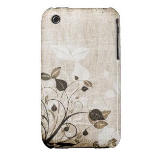 Caso floral do blackberry curve do design do Grung iPhone 3 Capa