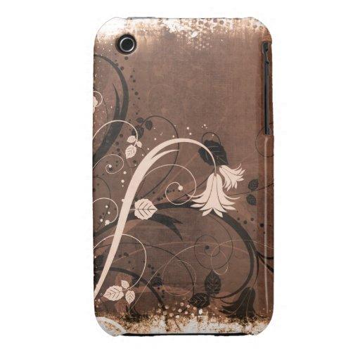 Caso floral do blackberry curve do design do Grung Capas iPhone 3