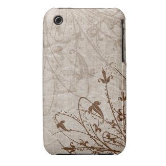 Caso floral do blackberry curve do design do Grung Capa iPhone 3