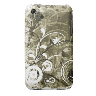 Caso floral do blackberry curve do design do Grung iPhone 3 Capas