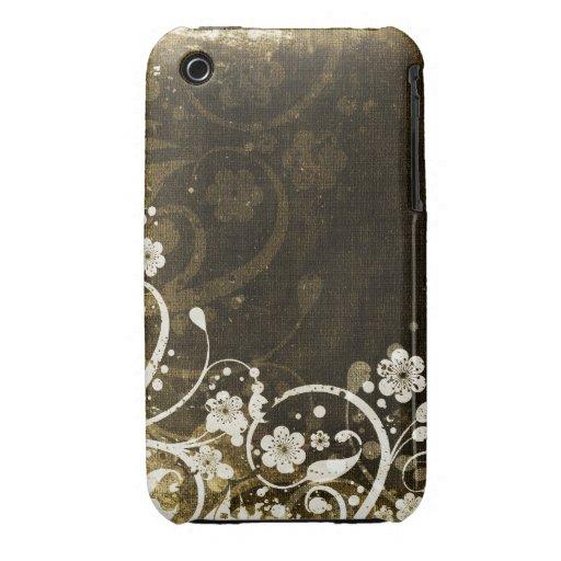 Caso floral do blackberry curve do design do Grung Capa iPhone 3 Case-Mate