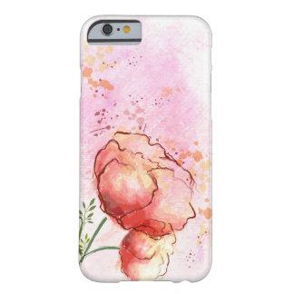 Caso floral do iPhone 6 da aguarela Capa Barely There Para iPhone 6