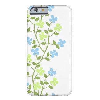 Caso floral moderno delicado do iPhone 6 Capa Barely There Para iPhone 6