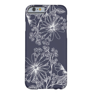 Caso floral simples capa barely there para iPhone 6