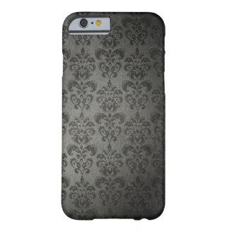 Caso gótico do iPhone 6 do damasco floral preto do Capa Barely There Para iPhone 6