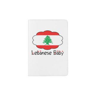 Caso libanês do cobrir do passaporte do bebê da capa para passaporte