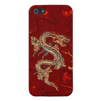 Caso lustroso do iPhone 5 do dragão do fogo Capas iPhone 5