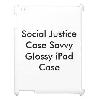 Caso lustroso esclarecido do iPad do caso de Capas Para iPad