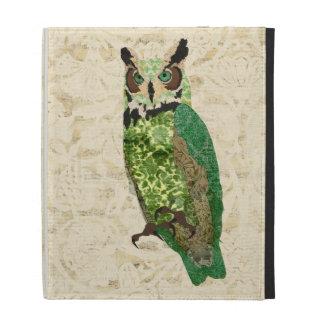 Caso ornamentado de Caseable da coruja do jade do