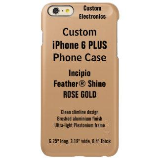 Caso POSITIVO do BRILHO do iPhone 6 feitos sob Capa Incipio Feather® Shine Para iPhone 6 Plus