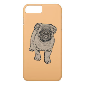 Caso positivo do iPhone 7 bonitos do Pug - laranja Capa iPhone 8 Plus/7 Plus