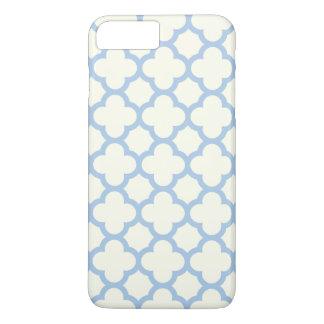 Caso positivo do iPhone 7 de Quatrefoil em azul Capa iPhone 7 Plus