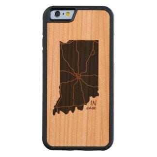 Caso que capa de madeira cerejeira bumper para iPhone 6