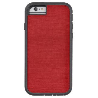 Caso resistente do iPhone 6 de linho vermelhos da Capa Tough Xtreme Para iPhone 6