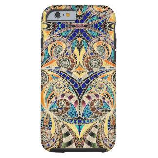 caso Shell do iPhone 6 que tira Zentangle floral Capa Tough Para iPhone 6