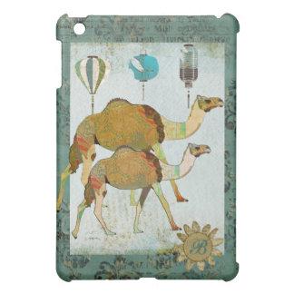 Caso sonhador do iPad do monograma dos camelos Capas Para iPad Mini