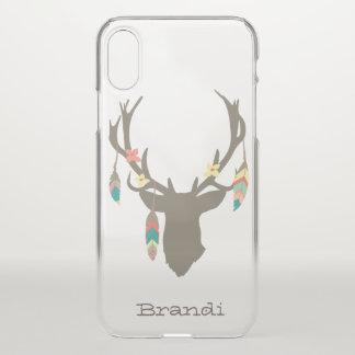 Caso tribal do iPhone X da cabeça dos cervos de Capa Para iPhone X