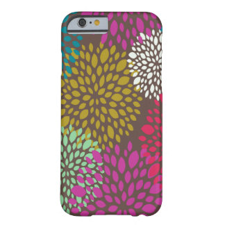 Caso universal floral retro brilhante do iPhone 6 Capa Barely There Para iPhone 6