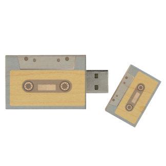 Cassete de banda magnética pen drive de madeira