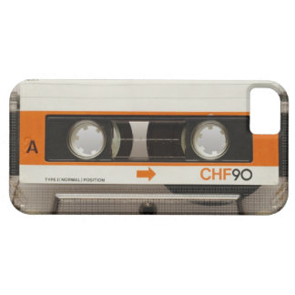 Cassete de banda magnética retro capa barely there para iPhone 5