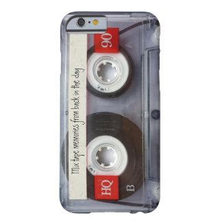 Cassete de banda magnética retro capa iPhone 6 barely there