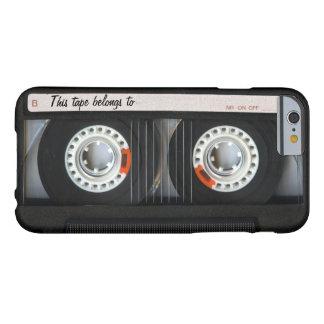 Cassete de banda magnética retro de música do capa barely there para iPhone 6