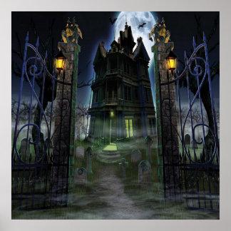 Castelo assustador do poster da decoração do KRW o