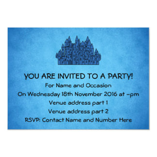 Castelo azul convite 11.30 x 15.87cm