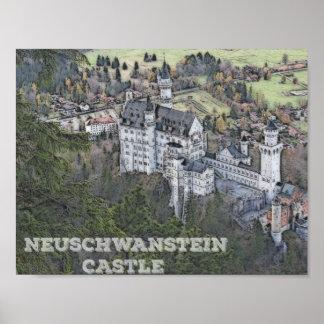 Castelo bonito de Neuschwanstein, Alemanha Poster