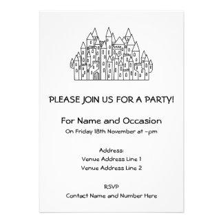 Castelo da fantasia convites