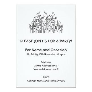 Castelo da fantasia convite 12.7 x 17.78cm