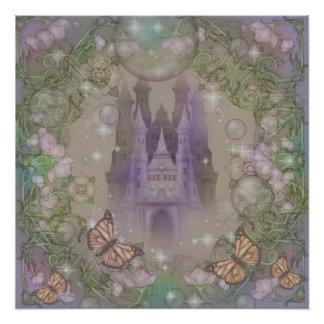 Castelo da lavanda poster perfeito