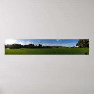 Castelo de Alnwick panorâmico Posters
