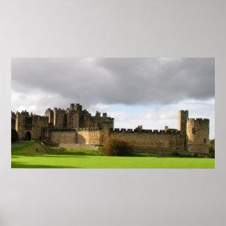 Castelo de Alnwick Poster