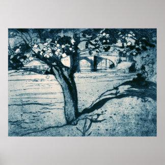 Castelo de Barnard da árvore de bordo de Brangwyn  Pôsteres