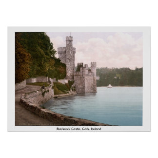 Castelo de Blackrock, cortiça, Ireland Poster