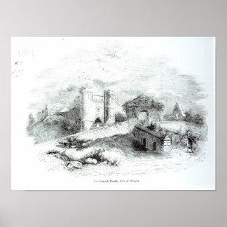 Castelo de Carisbrook, ilha do Wight Pôsteres