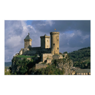 Castelo de Comtal do castelo das contagens de Poster